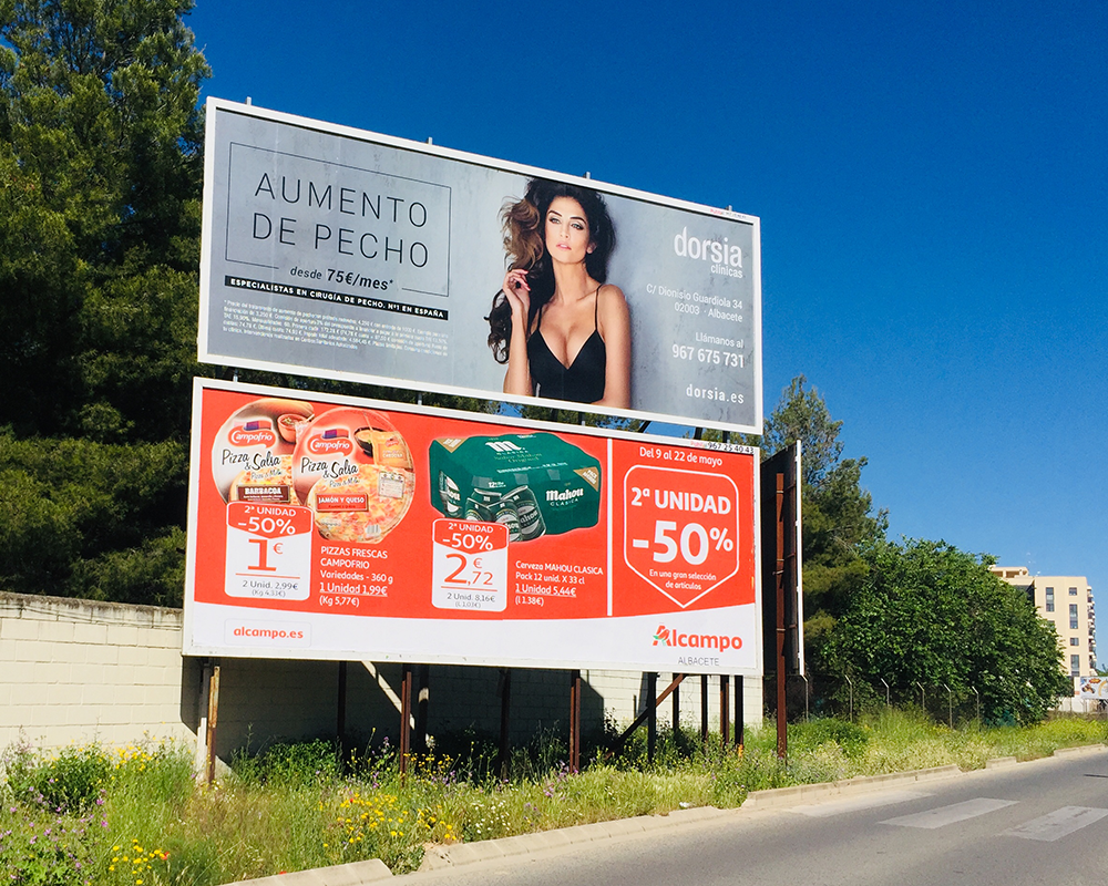 Vallas publicitarias 3x8 metros