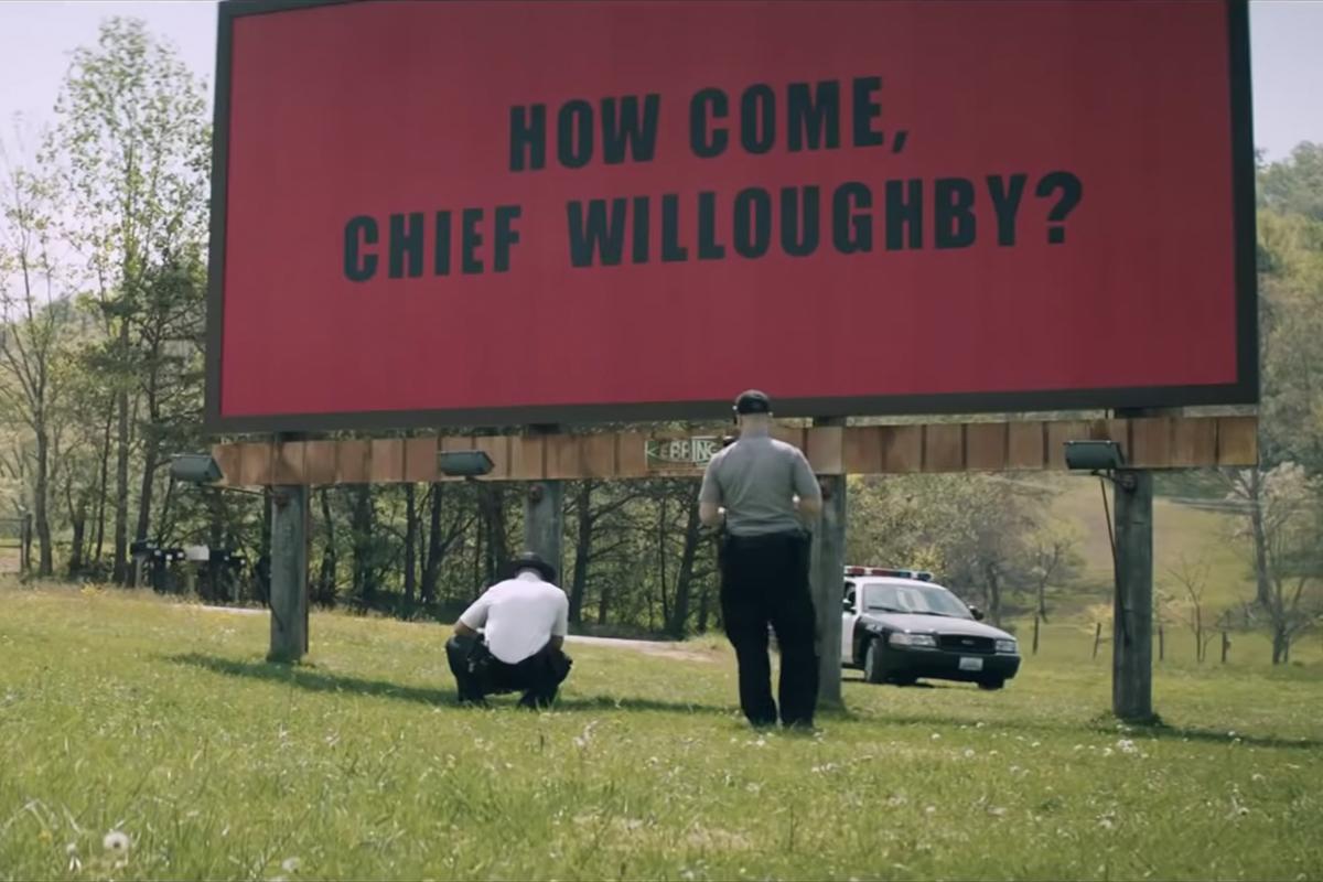 Fotograma de la película Three Billboards Outside.